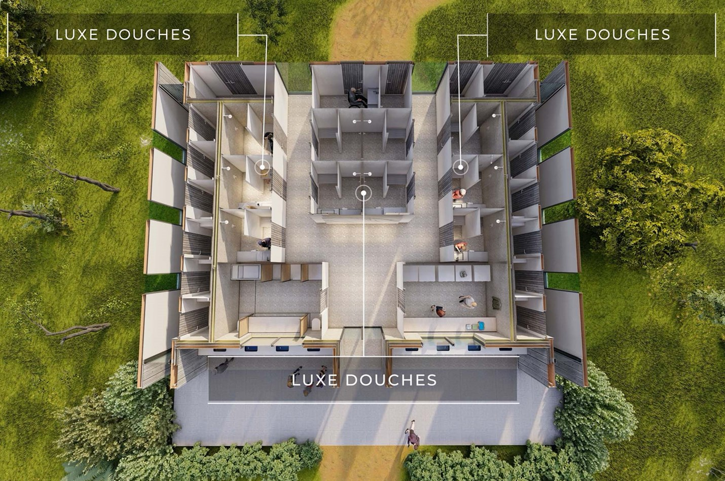 Plattegrond Luxe Douches